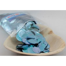 Confetti Metallic 2.3cm Light Blue 250 grams