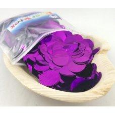 Confetti Metallic 2.3cm Purple 250 grams