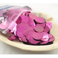 Confetti Metallic 2.3cm Light Pink 250 grams