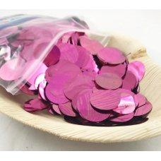 Confetti Metallic 2.3cm Light Pink 250 grams