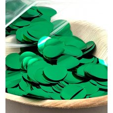 Confetti Metallic 2.3cm Green 250 grams