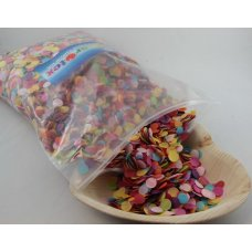 Confetti Tissue 1cm Bright Assorted 250 grams