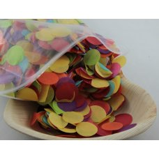 Confetti Tissue 2.3cm Bright Assorted 250 grams