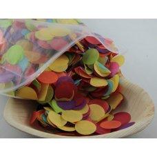 Confetti Tissue 2.3cm Bright Assorted 250 grams