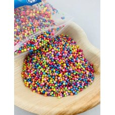 Confetti Balls 2-4mm Bright Assorted Rainbow 9gm Bag