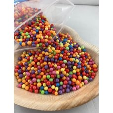 Confetti Balls 4-6mm Bright Assorted Rainbow 9gm Bag