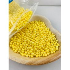 Confetti Balls 4-6mm Bright Yellow 9gm Bag