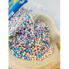 Confetti Balls 4-6mm Pastel Assorted Rainbow 9gm Bag