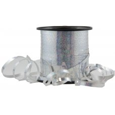 Holographic Curling Ribbon Silver 225m