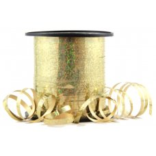 Holographic Curling Ribbon Gold 225m