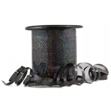 Holographic Curling Ribbon Black 225m