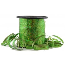 Holographic Curling Ribbon Lime 225m
