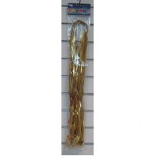 Metallic Pre Cut & Clipped Curling Ribbon Gold 1.75m P25