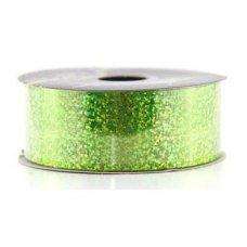 Holographic Tear Ribbon Lime 45m