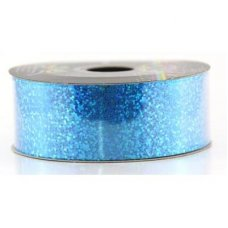 Holographic Tear Ribbon Peacock Blue 45m