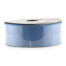 Diamond Tear Ribbon Peacock Blue 45m