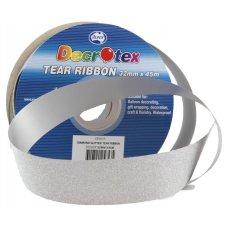 Diamond Tear Ribbon Silver 45m