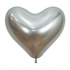 35cm Heart Reflex Silver (981) Bag 50
