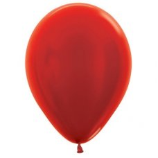 Met Red (515) 12cm Sempertex Balloons Bag 100