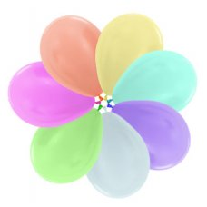 Satin Assorted (400) 12cm Sempertex Balloons Bag 100