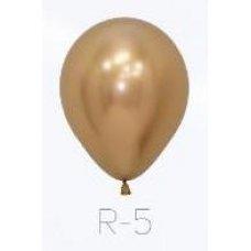 Reflex Gold (970) 12cm Sempertex Balloons Bag 50