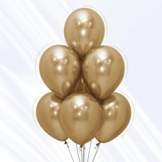 Reflex Gold (970) 30cm Sempertex Balloons Bag 50