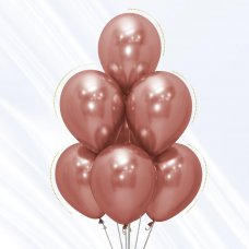 Reflex Rose Gold (968) 30cm Sempertex Balloons Bag 50