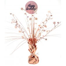 Happy Birthday Holographic Rose Gold Centrepiece 165gm P1