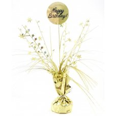 Happy Birthday Holographic Gold Centrepiece Weight 165gm P1