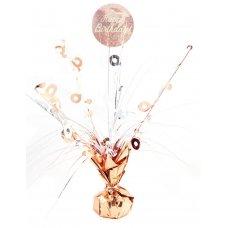 Happy Birthday Rose Gold & WhiteCentrepiece Weight 165gm P1