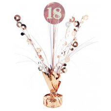#18 Rose Gold & White Centrepiece Weight 165gm P1