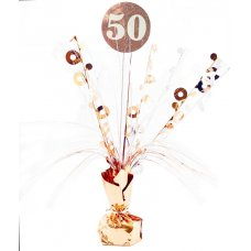 #50 Rose Gold & White Centrepiece Weight 165gm P1