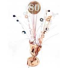 #80 Rose Gold & White Centrepiece Weight 165gm P1