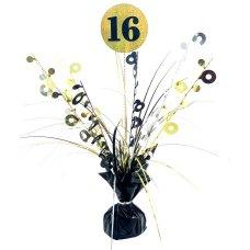 #16 Black & Gold Centrepiece Weight 165gm P1