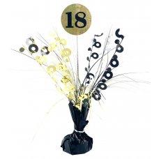 #18 Black & Gold Centrepiece Weight 165gm P1