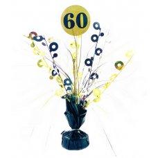 #60 Black & Gold Centrepiece Weight 165gm P1