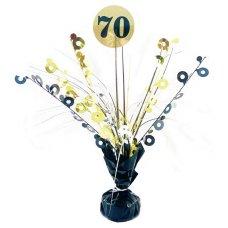#70 Black & Gold Centrepiece Weight 165gm P1