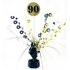 #90 Black & Gold Centrepiece Weight 165gm P1