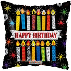 Birthday Patterned Candles Holographic (16123) 18