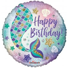 Birthday Mermaid Holographic (16119) 18