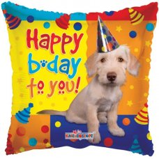 Happy Birthday Dog with Party Hat (19107-18) 18