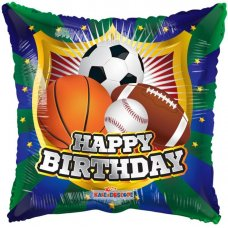 Happy Birthday Shield Sports (15047-18) 18