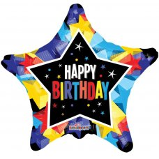 Happy Birthday Bright Colours Stars GB (15058-18) Star P1