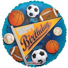 Birthday Sports Pennant (19285-18) Round P1
