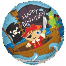 Birthday Pirate Boy (19202-18) Round P1