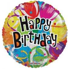 Birthday Balloons Holo. (19541-18) Round P1