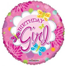Birthday Juvenile Girl (19453-18) Round P1