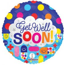 Get Well Dots & Meds (15069-18) Round H P1