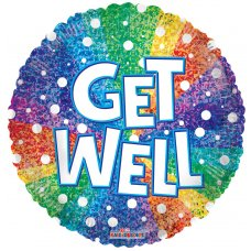 Get Well Rainbow Holographic (16127) 18