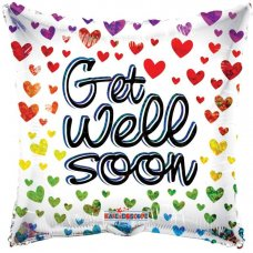 Get Well Hearts Holographic (16173) 18